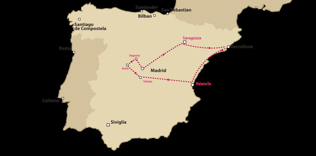 Tour Barcellona Madrid Valencia | tour della Spagna | spagnatour.it