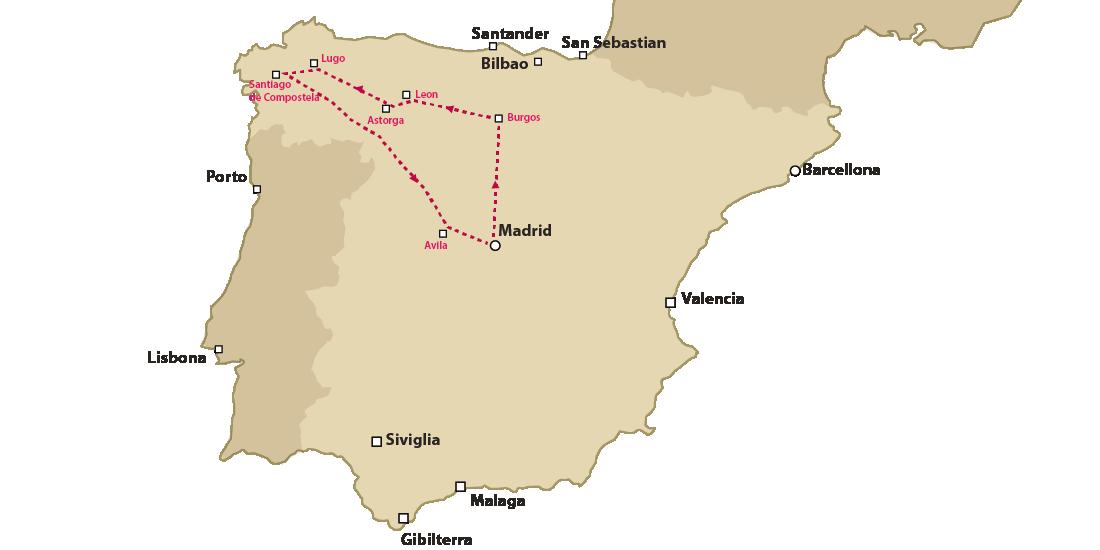 cammino di santiago da Madrid