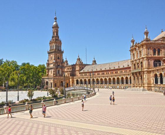 plaza de espana Gran Tour Andalusia Malaga Siviglia