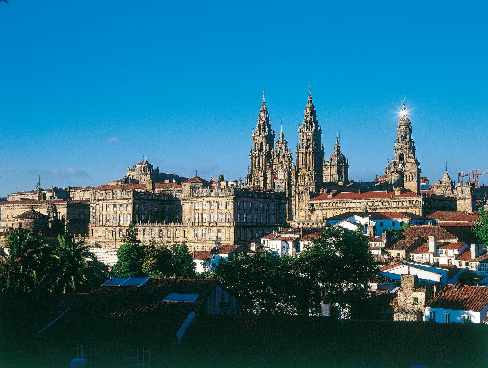 santiago de compostela galizia viata della cattedrale