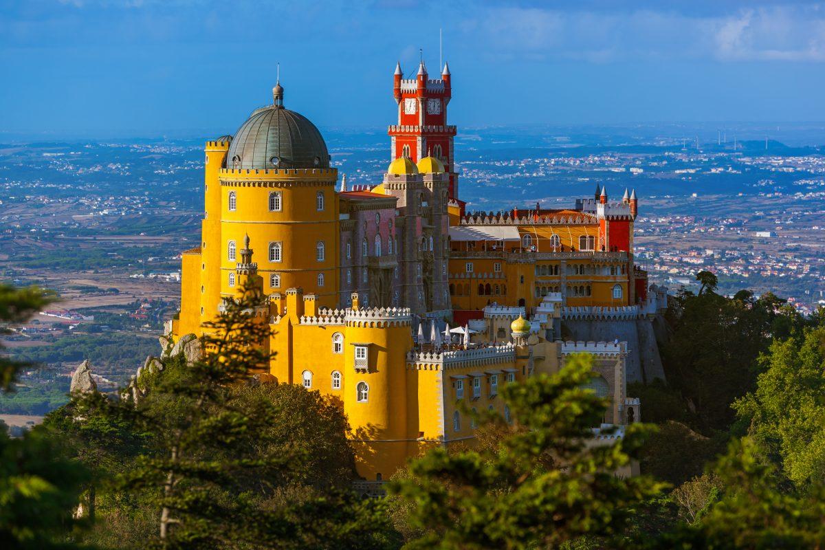 sintra, vista del Palácio Nacional da Pena